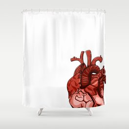 The Heart Shower Curtain