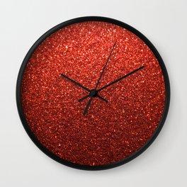 Raspberry Shimmer Wall Clock