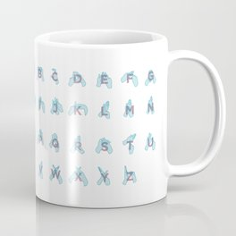 NZ Sign Language Alphabet Coffee Mug