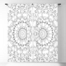 Cat Mandala Doodle Blackout Curtain