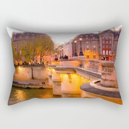Paris Pont Neuf at Dusk Rectangular Pillow