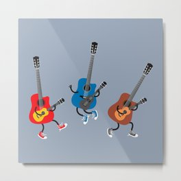 Dancing guitars Metal Print