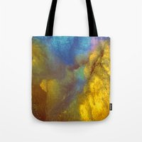 golden Tote Bags featuring Golden by Benito Sarnelli