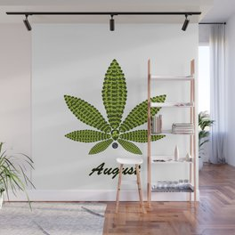 Birthstoned Leaf of Month, August Peridot Wall Mural