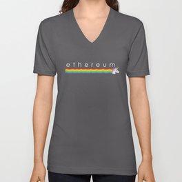 Ethereum Unicorn - Rainbow Unisex V-Neck