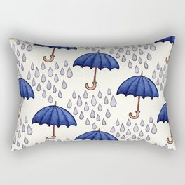 rain and umbrella Rectangular Pillow