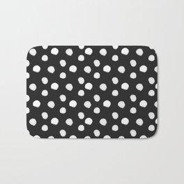 Brushy Dots Pattern - Dark grey Bath Mat