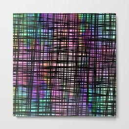 Colorful striped DP035-3 Metal Print