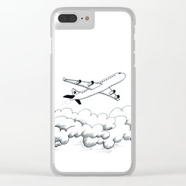 Airplane taking off Clear iPhone Case