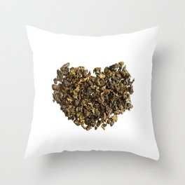 Dried and curled leaves of Oolong Throw Pillow