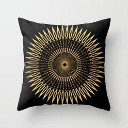 SPIKE - gold mandala Throw Pillow