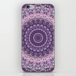 Purple Lace Mandala iPhone Skin