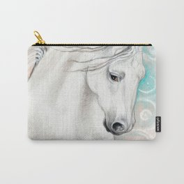 Andalusian Horse Blue Carry-All Pouch