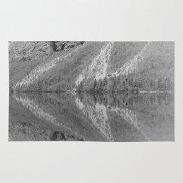 Silver Landscape At Lake Bohinj Rug