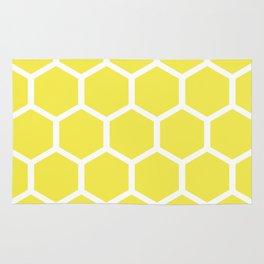 Honeycomb pattern - lemon yellow Rug