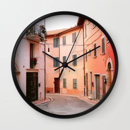 Colorful streets of Italy | Fine art travel photography print Europe Wall Clock