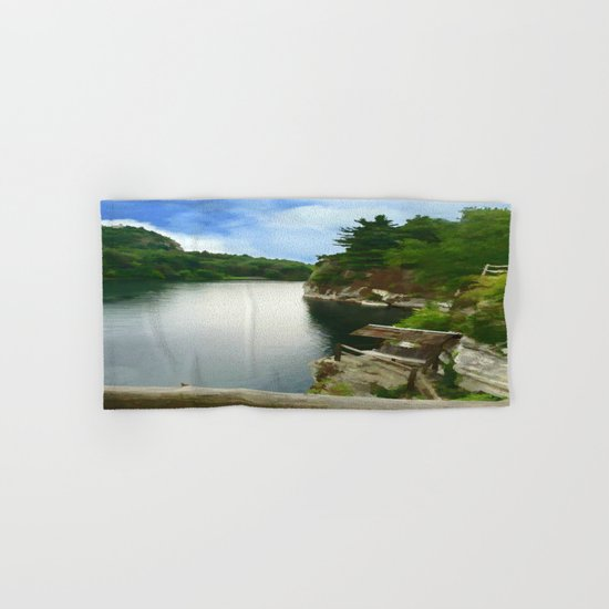 Majestic Mohonk Lake  Hand & Bath Towel