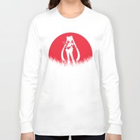 sailormoon Long Sleeve T-shirts featuring Red Moon SailorMoon by Timeless-Id
