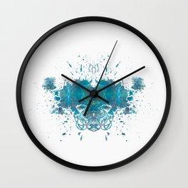 Rorschach inkblot XIX Wall Clock