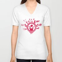 fringe V-neck T-shirts featuring Edinburgh Fringe by Peteman