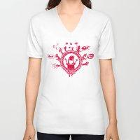 edinburgh V-neck T-shirts featuring Edinburgh Fringe by Peteman