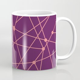 Magenta and Coral Geometric Lines Coffee Mug