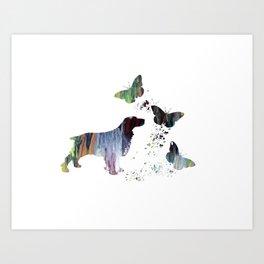 Spaniel Artwork Art Print