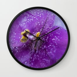 Frozen flower Wall Clock