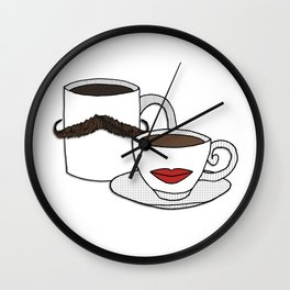 The Caffeinated Couple Wall Clock