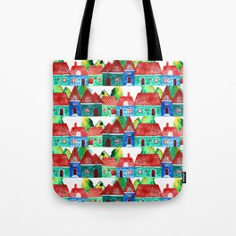 Watercolor houses Tote Bag