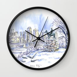 The Scout snowed Wall Clock