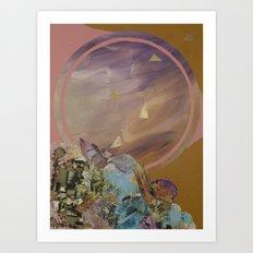 Mineral Moon Art Print