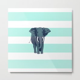 The Green Elephant Metal Print