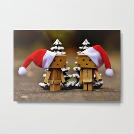 father and mother chrismass Metal Print