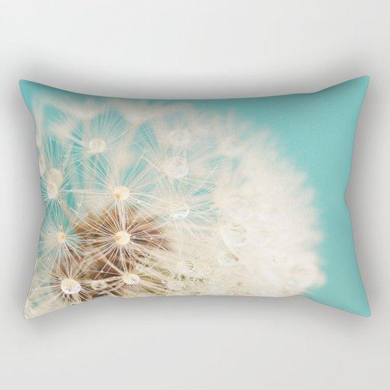 dandelion with waterdrops Rectangular Pillow