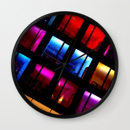 A Riot Of Color Wall Clock