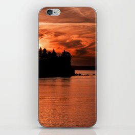 Red Sky At Night Photography Print iPhone Skin