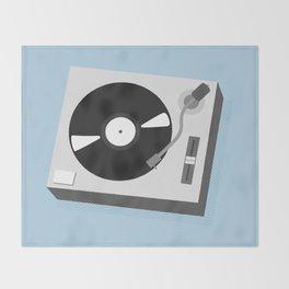Turntable Illustration Throw Blanket