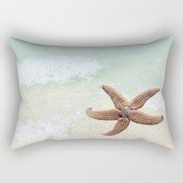 Starfish on the Beach Rectangular Pillow