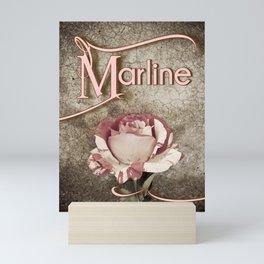 Personalized Antique Rose Mini Art Print