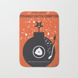 No422 My Straight Outta Compton minimal movie poster Bath Mat