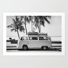 Retro Van Art Print
