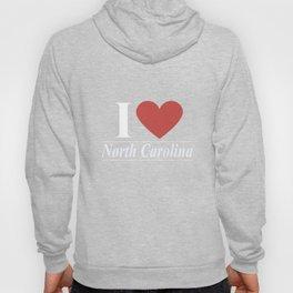 I Love North Carolina Hoody