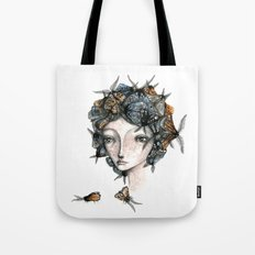 The moth girl Tote Bag