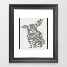 Blues Bunny  Framed Art Print