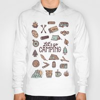 camping Hoodies featuring Lets Go Camping by WEAREYAWN