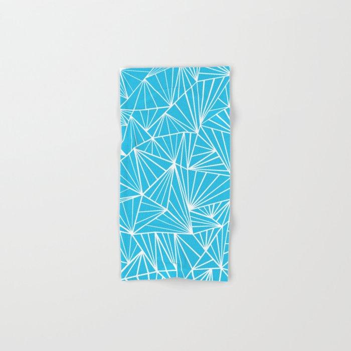 Ab Fan Electric Blue Hand & Bath Towel