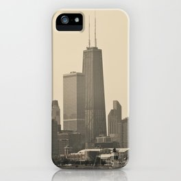 John Hancock Building Downtown Chicago Illinois Color Photo iPhone Case