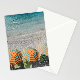 Umbrellas on the beach Stationery Cards