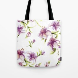 Lily Pattern Tote Bag